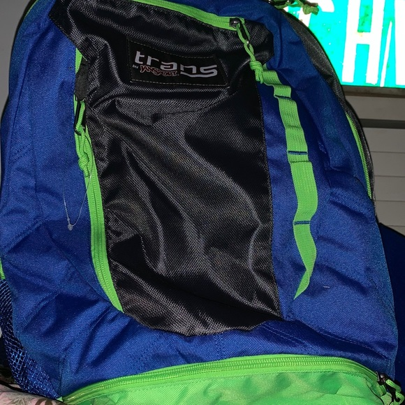 super popular special buy professional website TRANS by Jansport XL Backpack ROYAL/LIME/GRAY